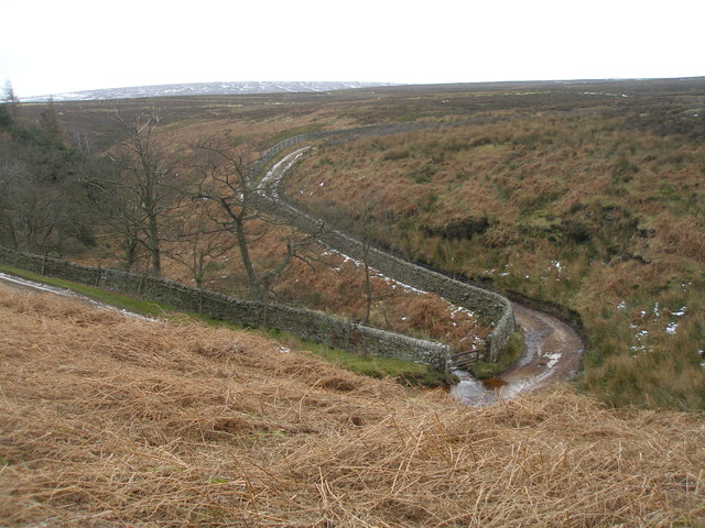 Hordron Road, the ford near Swinden Lane