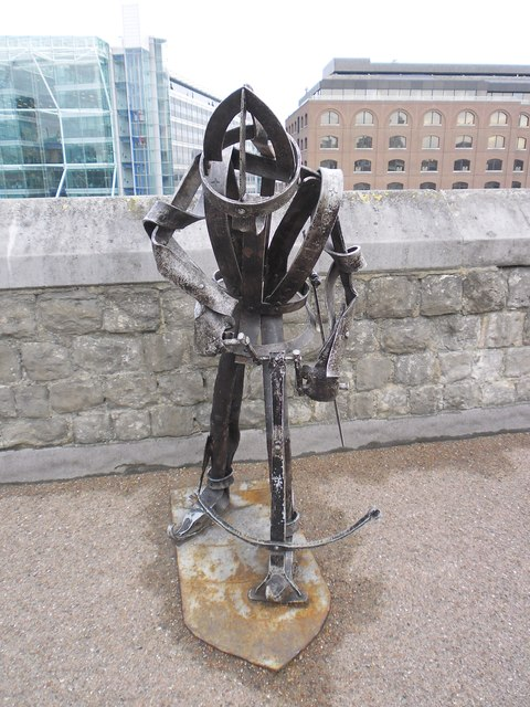 Soldier sculpture at The Tower of London (a)