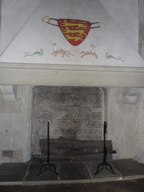 Henry III's fireplace within The Tower of London