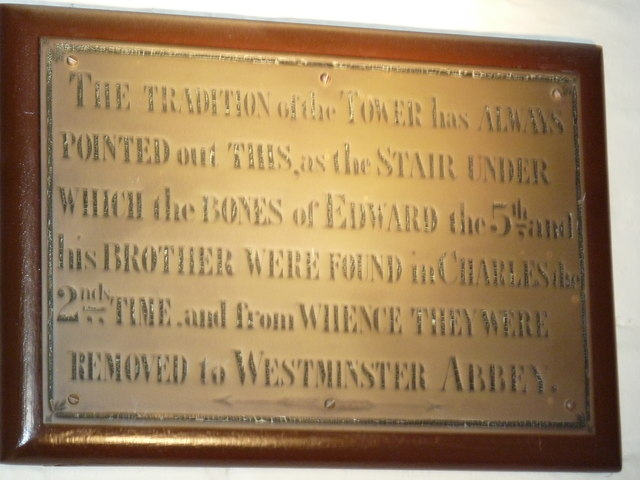 Commemorative plaque in The White Tower
