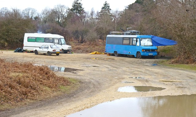 Impromptu homes at Clay Hill Car Park