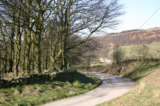 Private road to Harrop Fold Farm, Rainow
