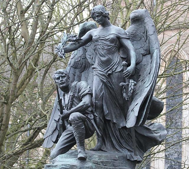 Sculpture on the Boer War Memorial, Worcester