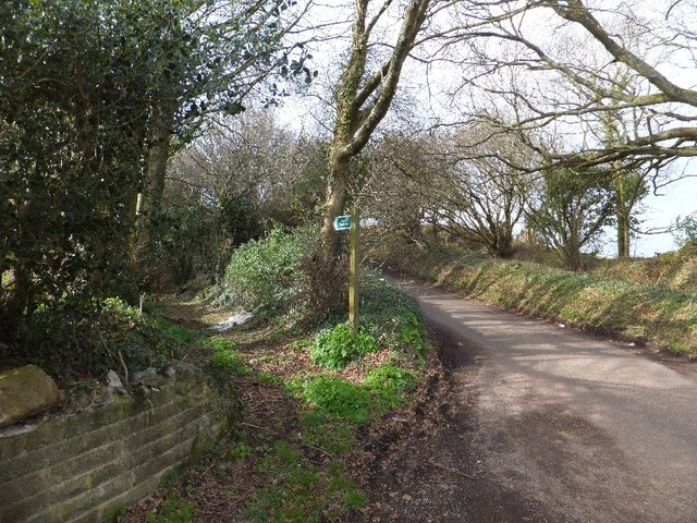 Public footpath near Higher Holcombe