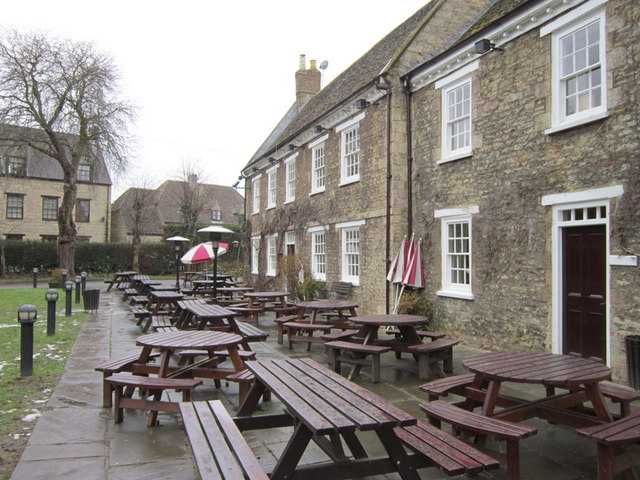 The beer garden at the Botolph Arms