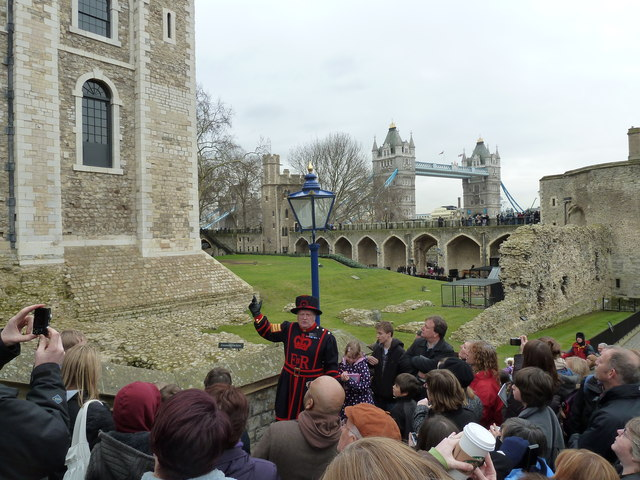 Beefeater entertaining the crowds