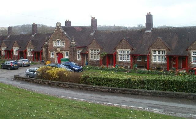 Central section of Grade II listed Burton Homes, Caerwent