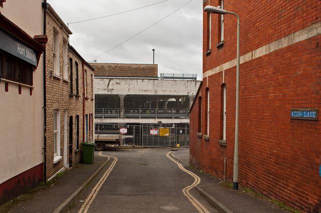Hardaway Head Multi Storey Car Park as seen from Azes Lane