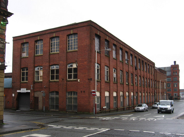 Bolton - factory at junction of Carlton Street and Shiffnall Street