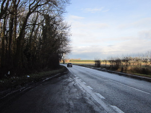 The A15 from Elsea Wood