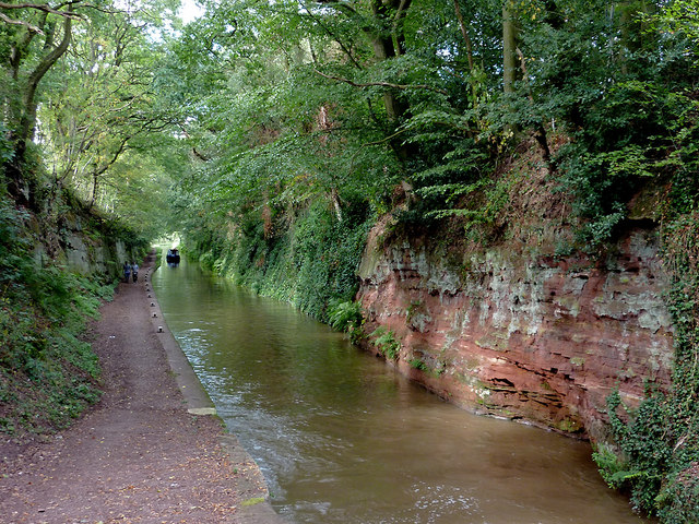Canal north of Tyrley Bottom Lock near Market Drayton