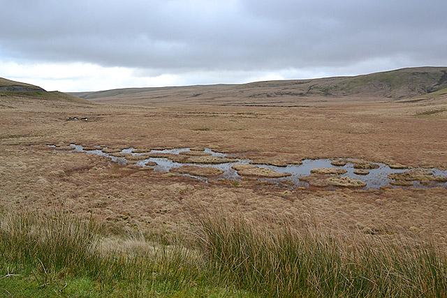 The source of the Afon Ystwyth