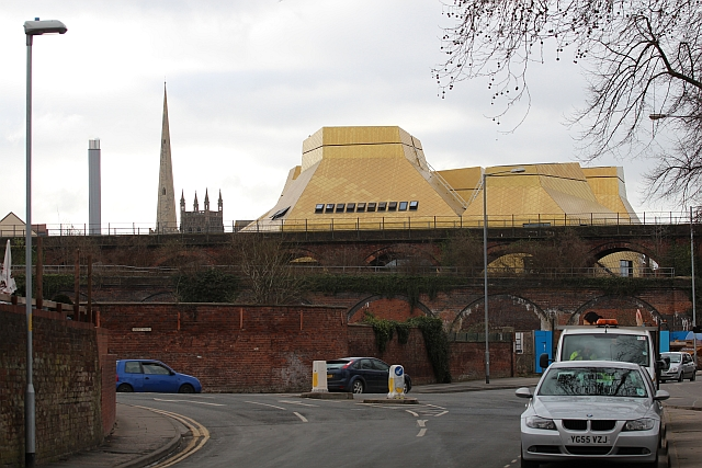 The changing skyline of Worcester
