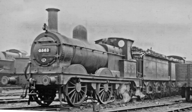 Ex-Midland 2F 0-6-0 at Willesden Locomotive Depot