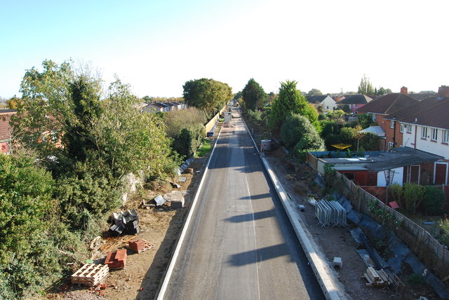 Fareham to Gosport BRT - View from Gregson Avenue Bridge (38)