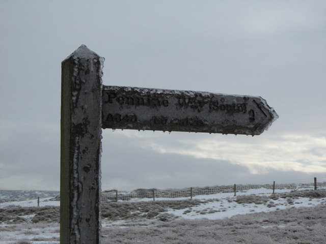 The Pennine Way at Windy Hill