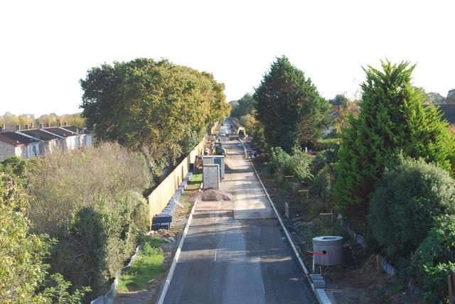 Fareham to Gosport BRT - View from Gregson Avenue Bridge (39)