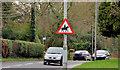 """J3068 : """"Beware of horses"""" sign, Belfast by Albert Bridge"""