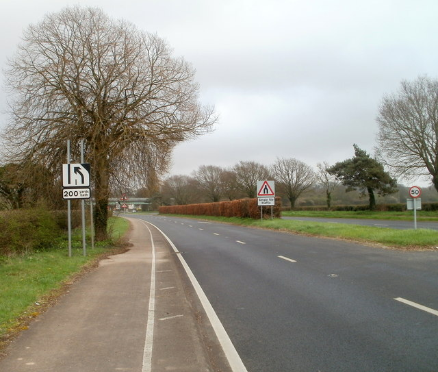 Different signs, same message on the A48 west of Crick