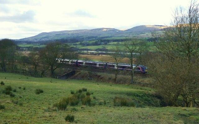 A Train Passing at Hirst