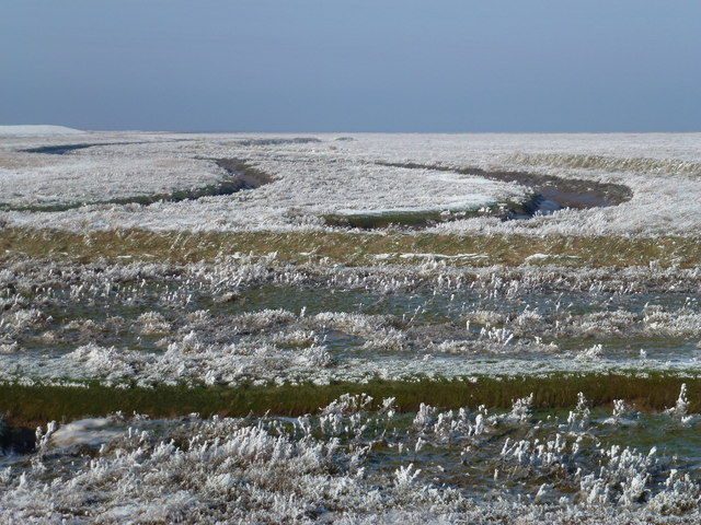 The Wash coast in winter - Where is the sea?