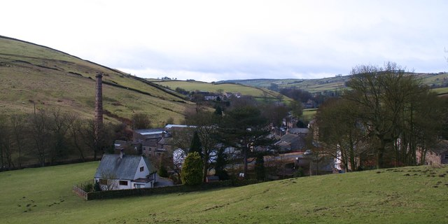 Looking down on Lothersdale