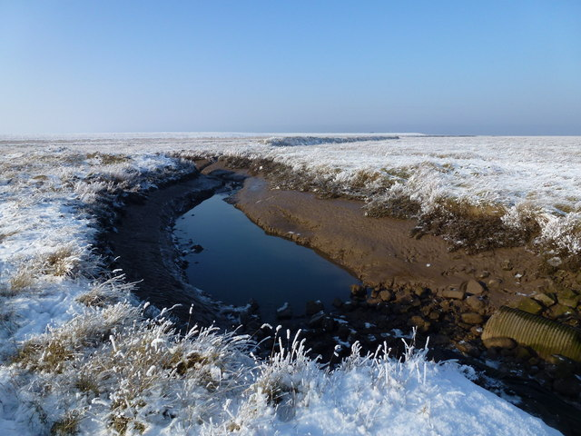 The Wash coast in winter - Tidal creek without a bridge