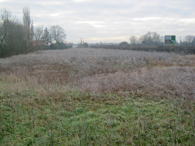 Waste land near the A1