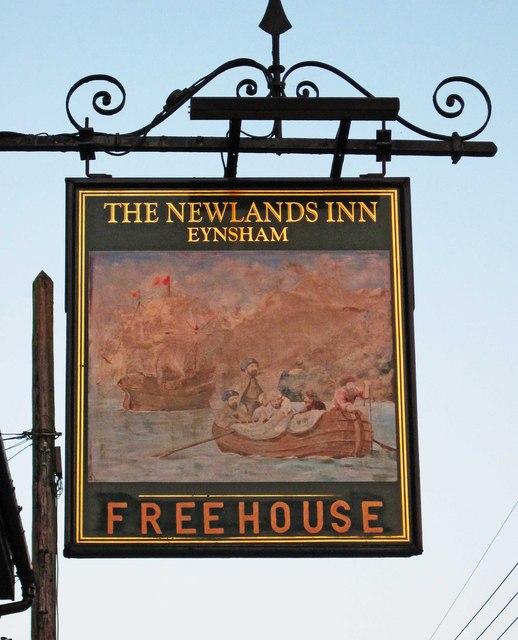 The Newlands Inn (2) - sign, 45-47 Newland Street, Eynsham