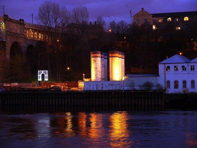 'Rise & Fall' & Brett's Oil tanks at night