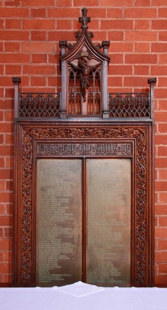St Mark, St Mark's Road, Mitcham - War Memorial
