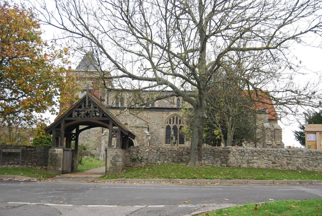 Lych gate and Church of St Margaret