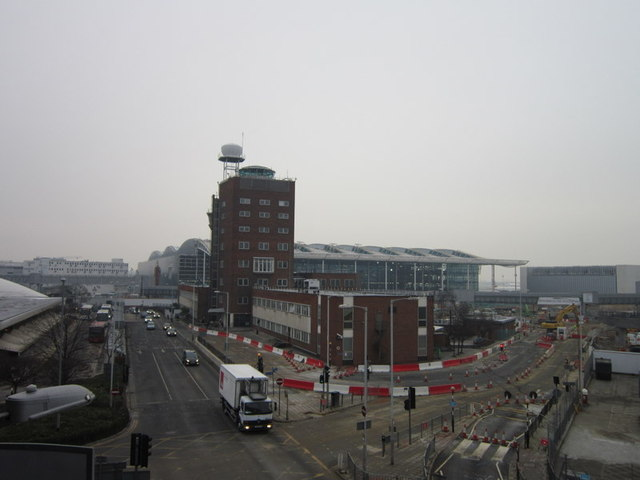 Terminal 5 from the short stay carpark at terminal 3
