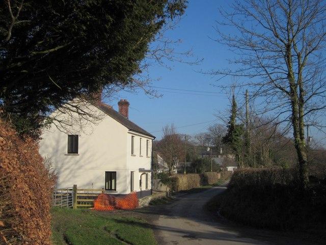 Lane through Virginstow