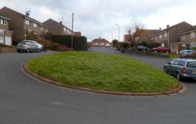 Turning circle at the far end of Arlington Close, Malpas, Newport