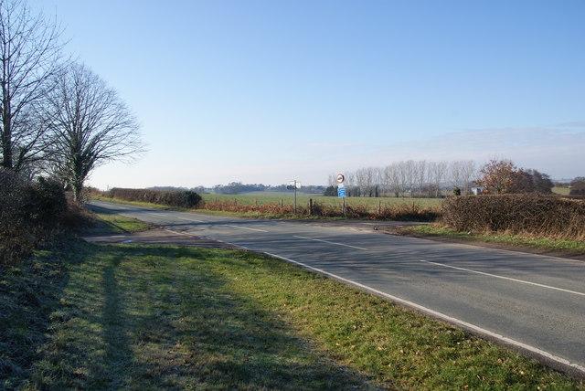 Crossroads on the road to Penkridge