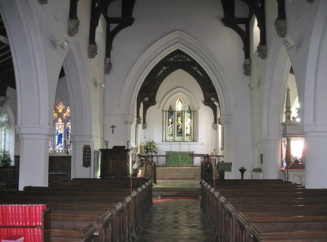 Interior of St. Mary's church, Arkesden, Essex