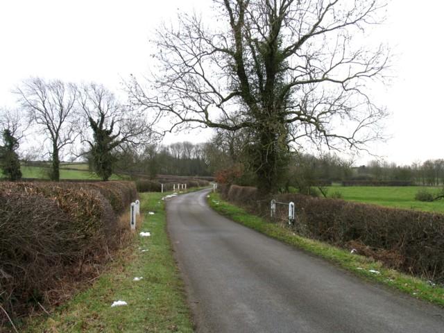 Gaddesby Lane crosses a stream