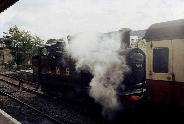 LMS locomotive 'Jinty' class 0-6-0 at Llangollen Railway Station