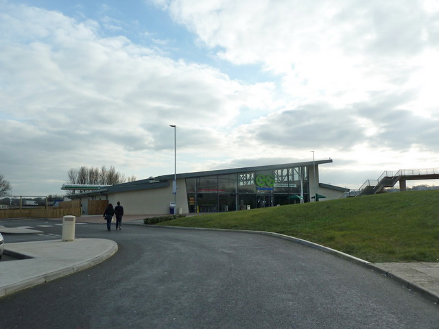 The new Bolton West Services on the M61