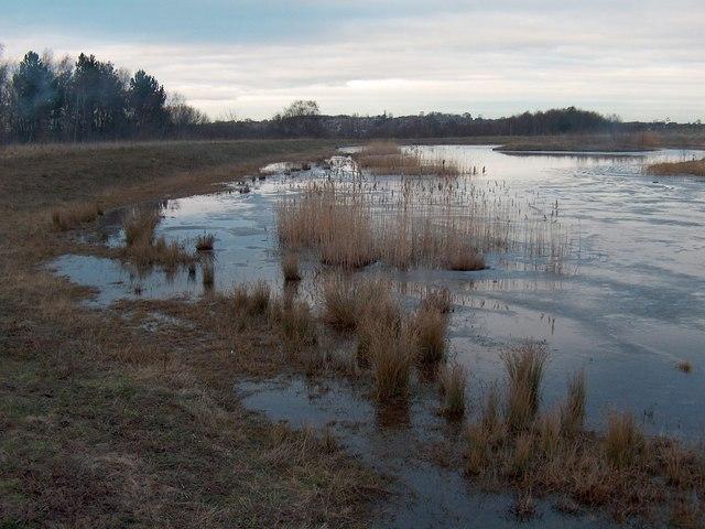 One of the manmade lakes at Kiveton Park