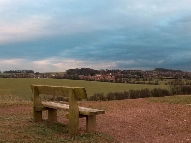 Bench with view towards Harthill