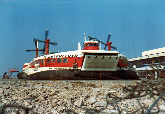 Pegwell Bay, Ramsgate Hoverport 1973