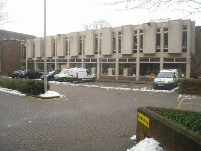 Rear view of Fleet Library