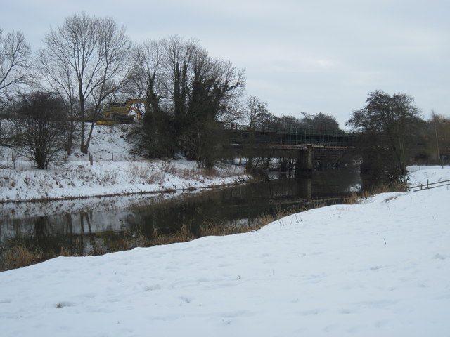 River  Derwent  and  Railway  Bridge  Over