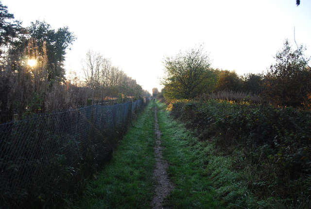 Footpath by the railway line to Sturry