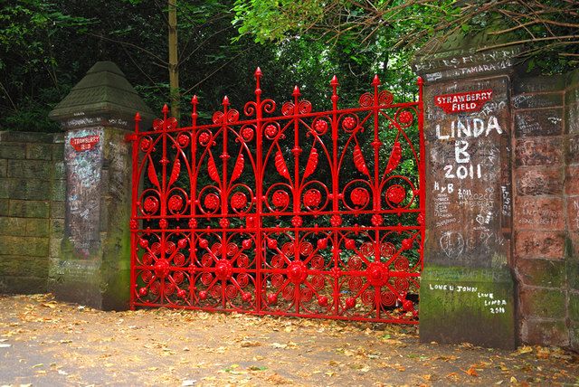 Strawberry Field gates, Liverpool