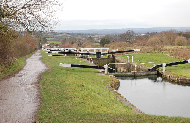 Kennet and Avon Canal at  Caen Hill Flight  (Lock 36)