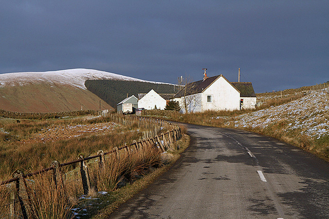 The A708 at Birkhill