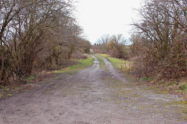 Course of former Devizes to Trowbridge Branch Line at Lower Foxhangers